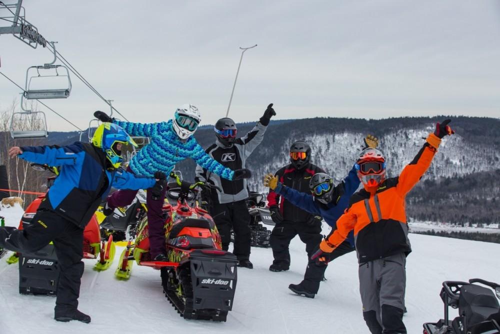Ontario Snowmobile Ski Slope