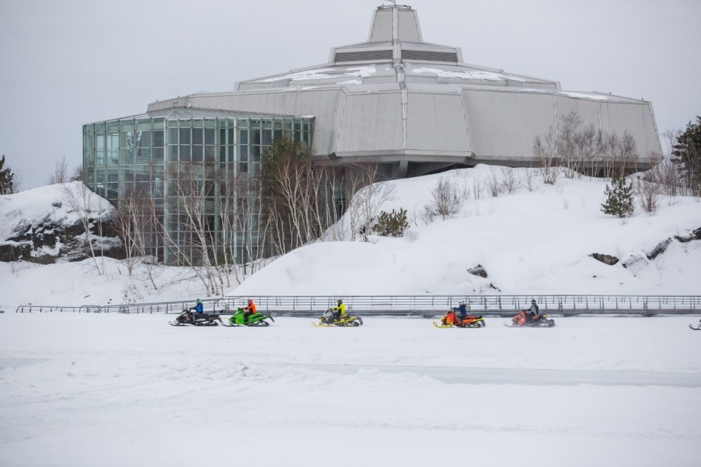 Science North Snowmobiling