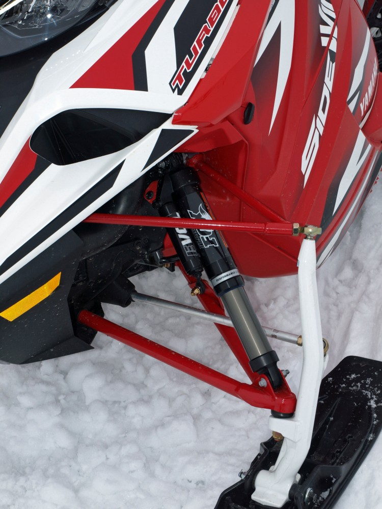 Fox Evol 3 air shocks are used to control the 7-inches of front suspension on the X-TX LE.