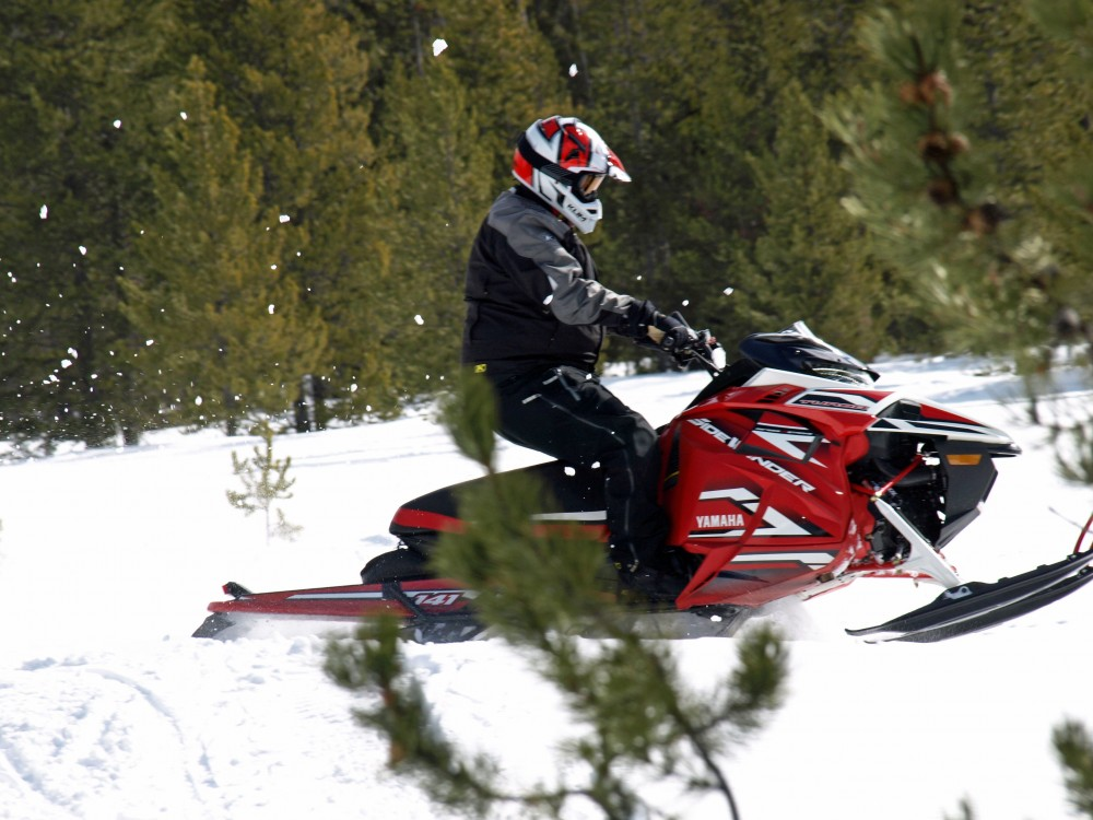 A quick jab at the throttle will get immediate ski lift to power over backcountry obstacles.