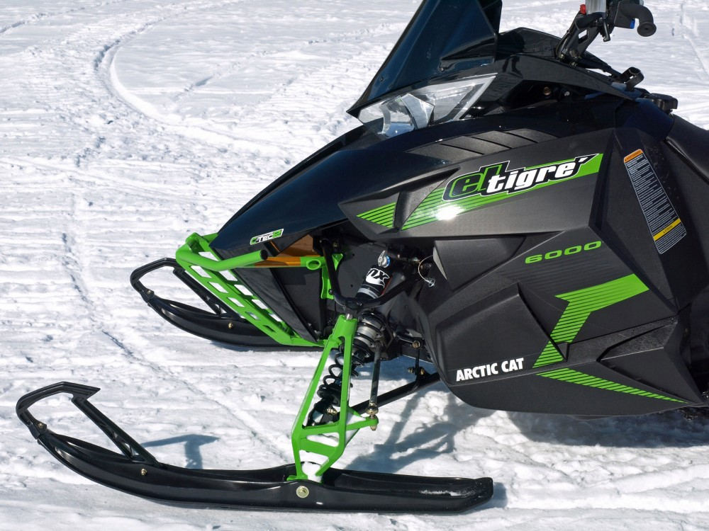 Although Arctic Cat has utilized partnerships with Yamaha, Kymco and Suzuki, the C-TEC2 600cc twin was designed and manufactured in house and used to power a variety of 2017 Cat models like this El Tigre.