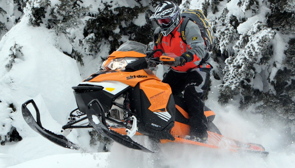 2017 Ski-Doo Renegade Backcountry X 800R Action Left