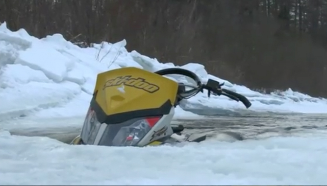 Failed Water Crossing Turned Ski-Doo Recovery Mission