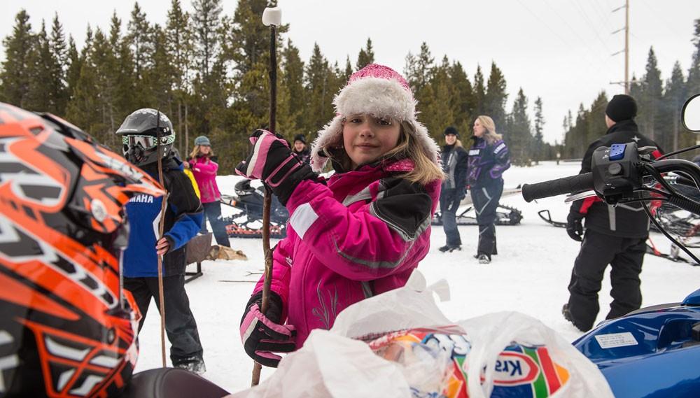 Snowmobile Marshmallow Roast
