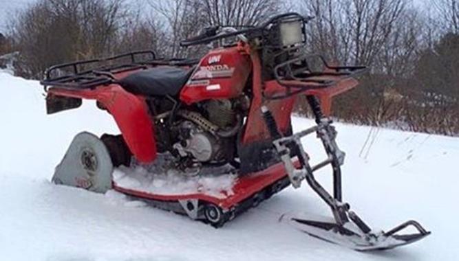 Top Mountain Bikes >> First Generation Snow Bikes - Snowmobile.com