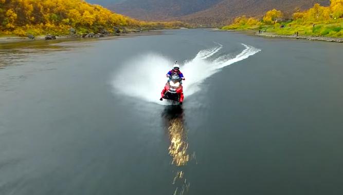 Ski Doo Parts >> Snowmobile on Water World Record + Video - Snowmobile.com