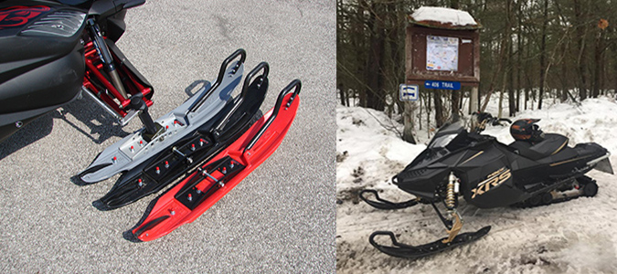 USI X2 Triple Threat Snowmobile Ski