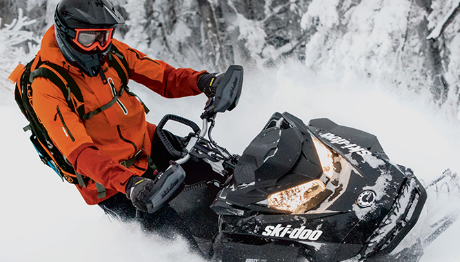 Ski-Doo's Helium 30 mountain outerwear offers new colors and more options in both men's and women's styles for 2018