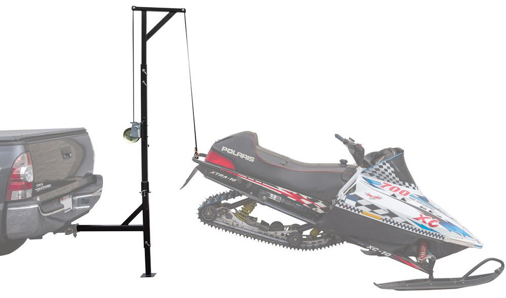 Black Ice Hitch-Mounted Snowmobile Swivel Hoist
