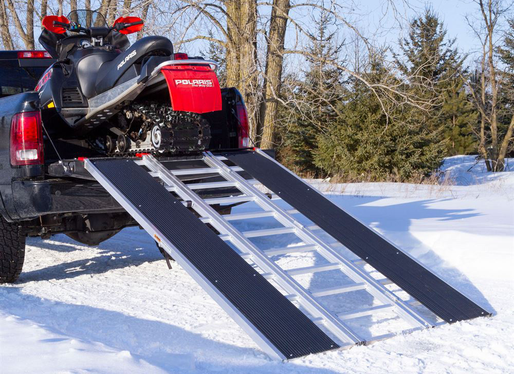 Black Ice Tri-Fold Snowmobile and ATV Ramp