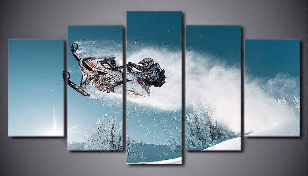 5-Panel Snowmobile Poster