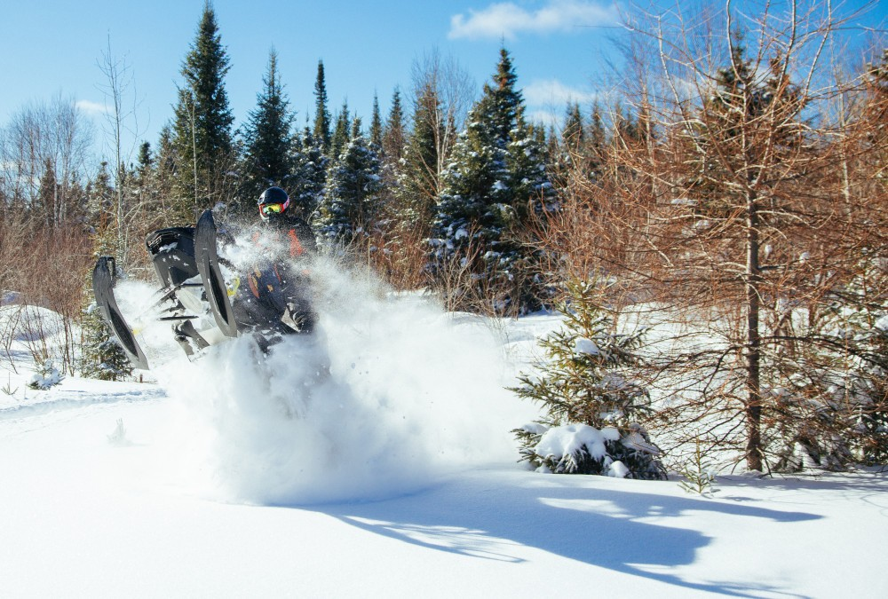 Proximity to the US makes an Ontario snowmobile trip a breeze.