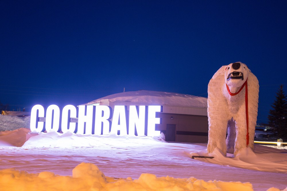 Cochrane makes a great stopover on a snowmobile trip to Ontario.