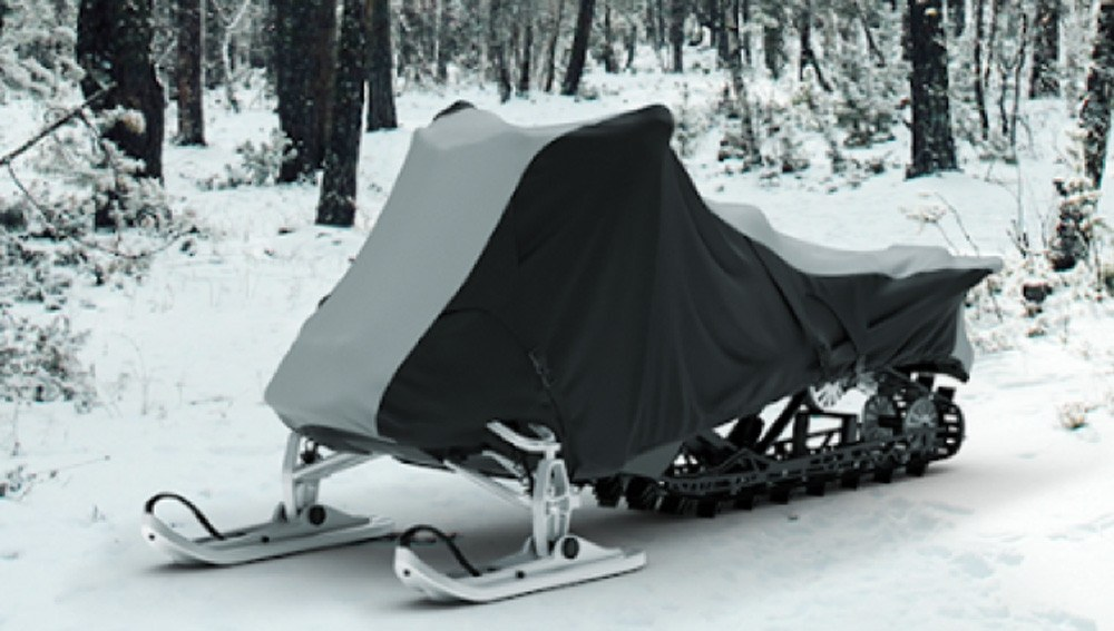 Made of extra-thick 600 denier fabric, the Weatherproof Shield Snowmobile Cover from CarCovers.com provides excellent durability, making it one of the best snowmobile covers out there.
