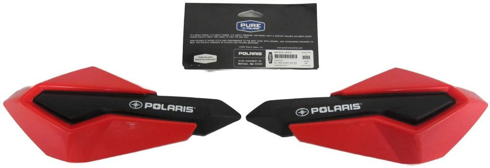 Polaris Red Snowmobile Hand Guards