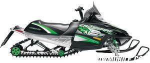 Arctic Cat outfitted the Crossfire 5 with longer travel, but reworked older design front and rear suspensions.