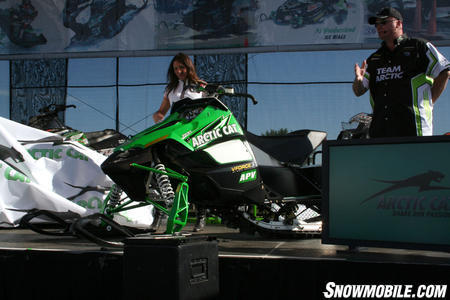 The most significant change to the 2009 Arctic Cat Sno Pro 600 resides under the hood. The new 600 mill has a new crankcase, cylinders, port timing and many other changes.