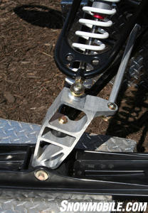 Riders claim the new aluminum ski spindle and steering arms significantly improve handling and reduce fatigue.