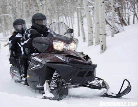 Polaris' 750cc turbo has ample power to tour all day long with performance to spare.