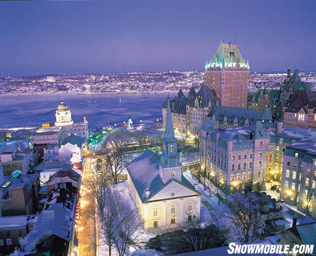 These Québec City buildings are 400 years old.