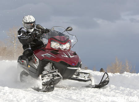 With a spunky engine and comfort-tuned ride, the 600 LX will master long trail miles.