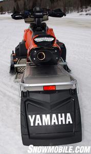 Yamaha runs the exhaust under the seat.