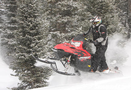 The Colorado powder was no match for the Dragon's flotation capabilities. (Photo by Jake Allred)