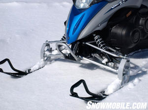 The double wishbone suspension uses gasbag shocks to control just over 7-inches of travel.