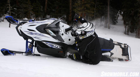 Don't let the weight numbers on the Apex MTX fool you.  The Yamaha engineers have done a great job making this sled feel light.  The Apex even shines when boondocking in the trees.