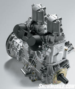 BRP engineering from Rotax and BRP's Evinrude worked together to design this clean and efficient 600cc 2-stroke twin.