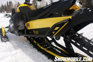 Outlaw Motorsports of Enterprise Oregon has a well-established reputation of building lightweight snowmobiles. With great aftermarket mods like an EZ-RYDE suspension, a Van Amburg tunnel, and a Mountain Performance supercharger this Yamaha Nytro becomes a mountain-mashing monster.