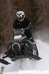 The 2010 Yamaha FX Nytro SE 162 has great deep snow floatation.