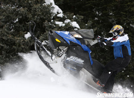 The Ski-Doo Summit 600 E-Tec has plenty of pull for medium-built riders in the deep snow — even at 10,000ft in the Colorado Rockies.