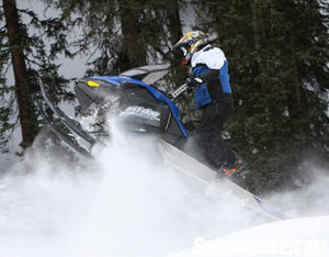 Mountain riders look for lightweight snowmobiles like the 600 Ski-Doo Summit.