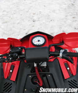 The RR tach can be read while standing as you work through moguls.