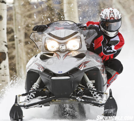 The majority of sport riders will find the 800 IQ more than enough sled for a spirited day on the trail.