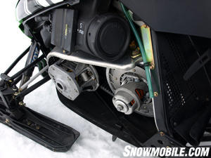 The Suzuki-built 1056cc 4-stroke works via Cat's drive and driven.