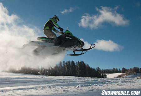The Z1 handles big air with ease.