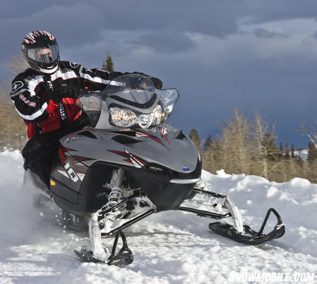 Polaris fitted the 600 IQ with an aggressive Hacksaw track and RydeFX HPG shocks.