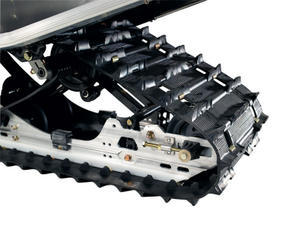 A Shockwave track with 0.91-inch lugs and aggressive track pattern is standard.