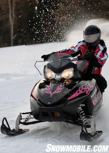 Polaris dealers can apply these pink graphics to Shift.