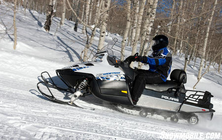 With its 80-hp 4-stroke twin, the Widetrak IQ enjoys strong low end and midrange performance.