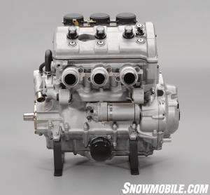 The Genesis 120 measures 973cc and uses triple 40mm Keihin carburetors.
