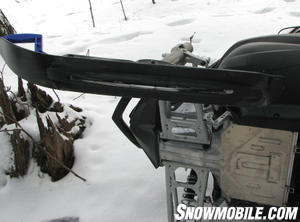 """Yamaha's power-assist ski uses a smoother prow and extra width to reduce """"darting."""""""