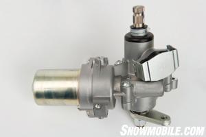 The steering motor relies on various sensors to adjust steering inputs.