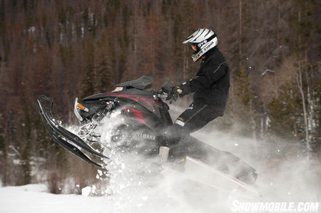 The powder prowess of the Nytro MTX SE 162 meant Yamaha could drop its heavier Apex mountain version.