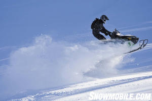 If you wanted to fly in powder, you needed an M-series, preferably with the 800cc Twin.