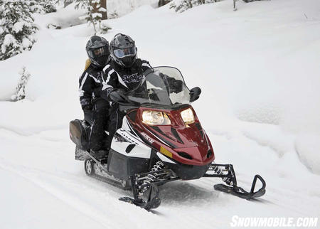Arctic Cat offers two-up models in four-stroke or two-stroke.