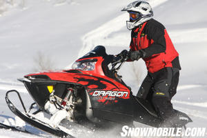 The Polaris Dragon 800 had a solid pull during the up hill timed speed course and managed the second fastest time of the day.