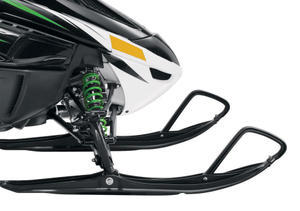 The seventh generation of Arctic's wishbone front suspension offers up to 9.5 inches of travel.